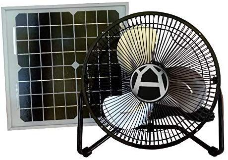 Western Harmonics 12 Inch Solar Powered High Velocity Fan Solar Powered Fan Solar Fan Solar Panel System