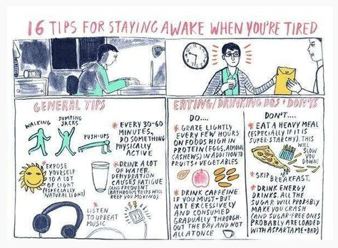 Tips to stay awake! ) I babysit long hours and sometimes I have - how to keep yourself awake