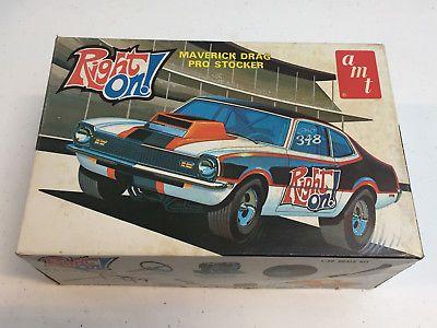 Vintage Amt Maverick Drag Pro Stocker T348 Model Kit Partially Assembled Inbox Model Kit Plastic Model Kits Cars Plastic Model Kits