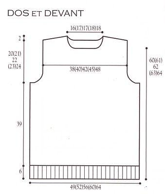 modele tricot debardeur homme gratuit | Debardeur