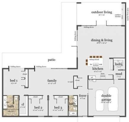 House Plans L Shaped Bedrooms 68 Ideas Unique House Plans L Shaped House Plans Modern House Plans