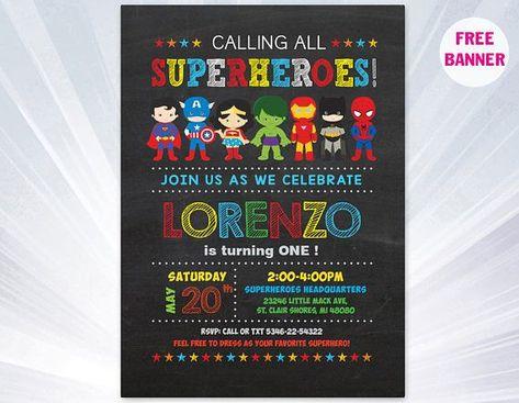 Super hero invitation - superhero invitation templates - superhero birthday party invitation - superhero party invitations   #Birthday #Hero #Invitation #Invitations #Party #Super #Superhero #Templates