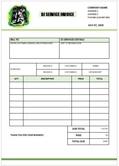 Invoice Receipt Template Receipt Template Templates Proposal Templates
