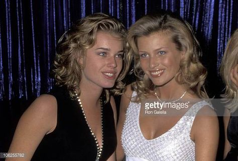 Rebecca Romijn and Daniela Pestova during Party Celebrating Annual Sports Illustrated Swimsuit Issue at The Supper Club in New York City New.