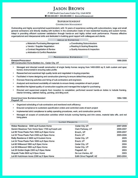 Enterprise Project Management Resume Resume Pinterest - construction management agreement