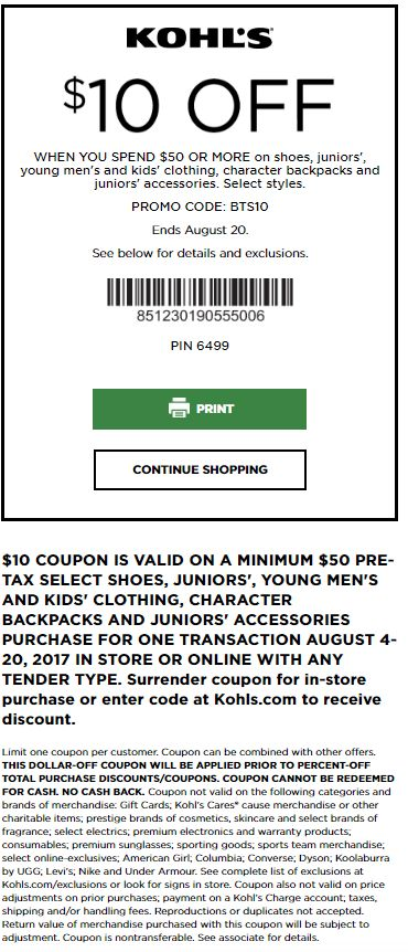 9 best Kohls Coupons and Discounts Kohls Printable Coupons and