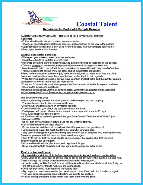 cool Learning to Write an Audition Resume, Check more at http - audition resume format