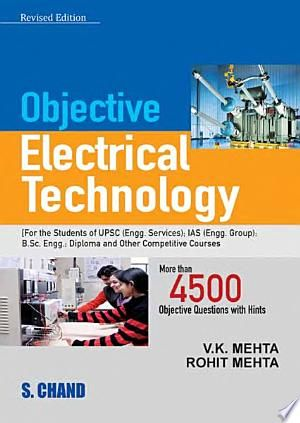 Objective Electrical Technology Pdf By Rohit Mehtapublished On 2008 By S Chand Publishingin The In 2020 Electrical Engineering Books Electrical Engineering Technology