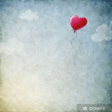 Samolepicí fototapeta Srdce balón - Štěstí
