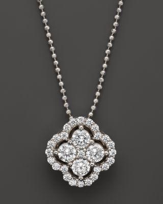 Diamond Frame Cluster Pendant 3//8ct 925 Sterling Silver