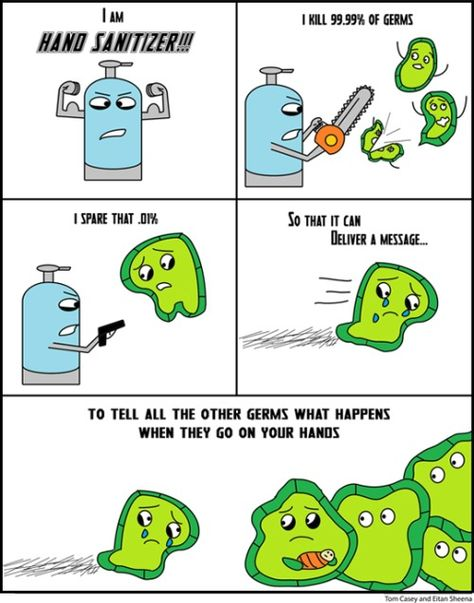 How Hand Sanitizer Works Comic By Scantronpattern Daily Funny