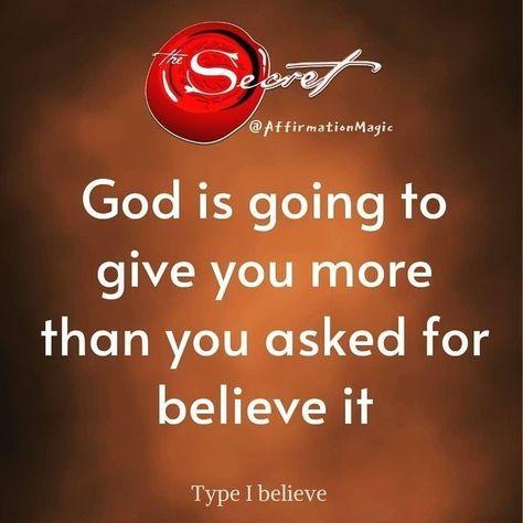 Type i believe
