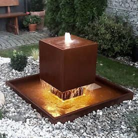 Landscaping Ideas Techniques And Tricks For Your Property Water Features In The Garden Modern Water Feature Diy Garden Fountains