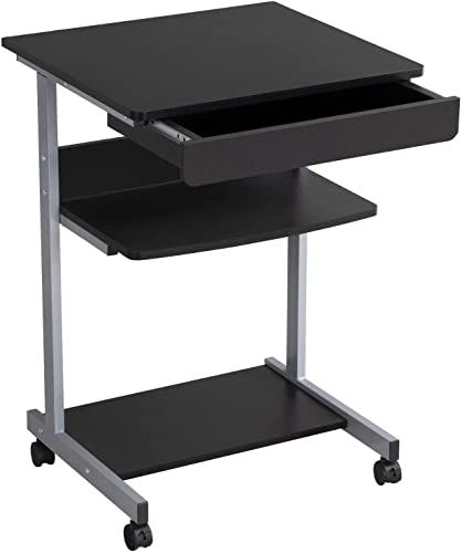 Best Seller Yaheetech Mobile Computer Desk Cart Rolling Laptop Pc Table Workstation Drawer Printer Stand Home Office Furniture Online Thepopbeautiful In 2020 Furniture For Small Spaces Office Furniture Online Desk With Drawers