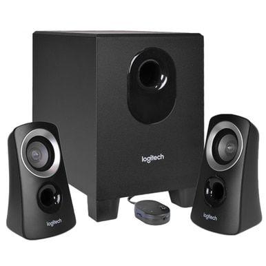 Z313 2.1-Channel Speaker System - Black//Silver Logitech 3-Piece
