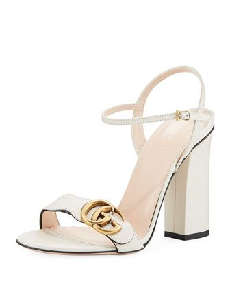 Gucci Marmont Leather Block-Heel