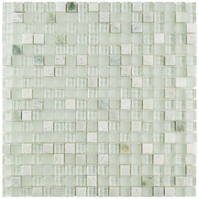 Elitetile Sierra 0 58 X 0 58 Glass And Natural Stone Mosaic Tile Wayfair In 2020 Stone Mosaic Tile Stone Mosaic Mosaic Wall Tiles