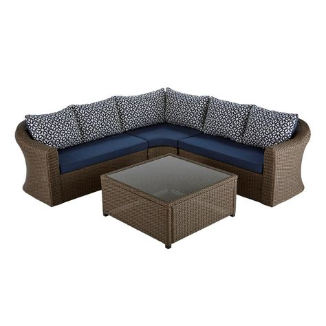 4ee492b148d3ae1812f0def97a6c7fad  maldives wicker - Better Homes And Gardens Cane Bay 4 Piece Conversation Set
