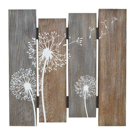 Dandelion Plank Art
