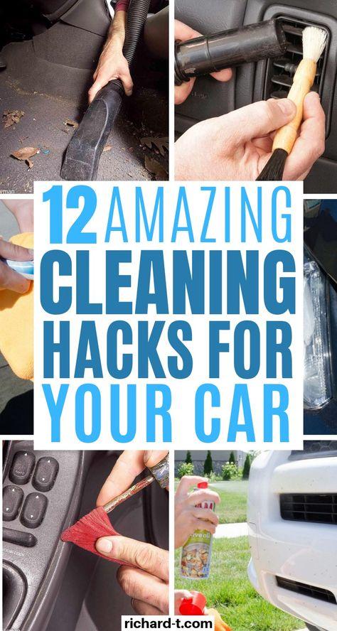 あなたの車を輝かせる12車のクリーニングハック これらの12の車の掃除のハックは驚くべきものであり、あなたの車はあっという間にきれいになります!!車をよりきれいにする方法についてのアイデアが必要な場合は、もう探す必要はありません!!#carcleaning #cleaninghacks #organizinghacks #ca #ベッドルーム、家庭用、バスルーム、家庭用、怠け者用、キッチン用、