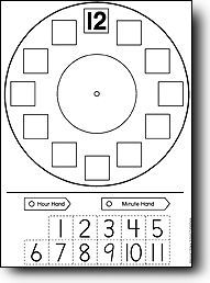 Telling Time Clock Worksheet - To The Hour by Have Fun Teaching | TpT