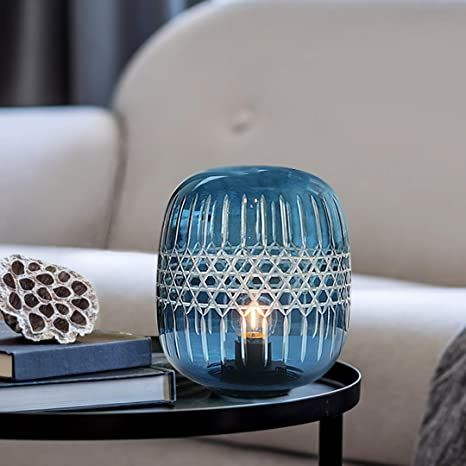 Battery Operated Table Lamp Cordless Lamps For Home Decor Glass Battery Powered Nightlight With Led Bulb Wit In 2021 Battery Operated Table Lamps Lamp Cordless Lamps