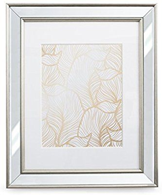 Amazon Com 11x14 Mirrored Picture Frame Matted To 8x10 Frames By Ecohome Mirrored Picture Frames Picture Frame Mat 5x7 Picture Frames