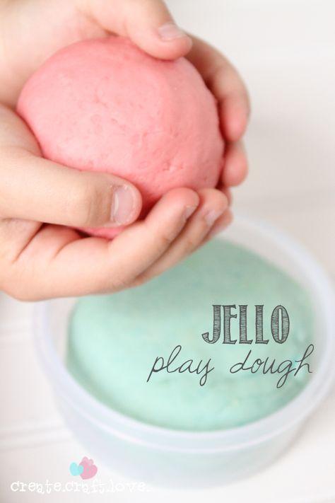 Jello play dough-- rainbow party ideas