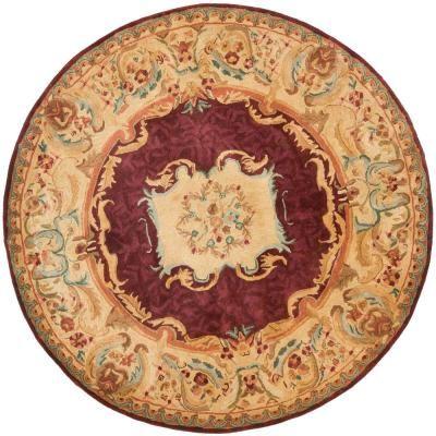 Safavieh Empire Burgundy Gold 8 Ft X 8 Ft Round Area Rug
