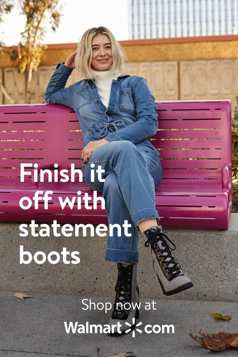Finish it off with statement boots