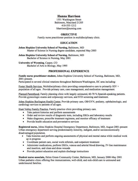 How to Write Your First Nurse Practitioner Resume MidlevelU - biology student resume