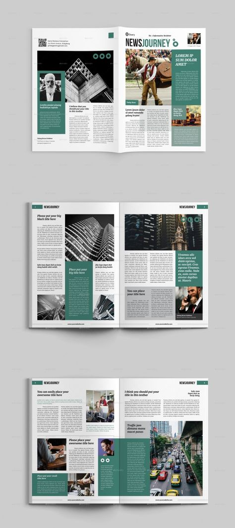 25+ Modern InDesign Newsletter Templates Newspaper Design Layout, Page Layout Design, Ux Design, Newsletter Design Templates, Newsletter Layout, Magazine Page Layouts, Magazine Layout Design, Free Indesign Magazine Templates, Magazin Design