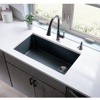 Elkay Quartz Classic 33 X 19 Undermount Kitchen Sink Finish Dusk Gray Kitchen Remodel Countertops Undermount Kitchen Sinks Kitchen Remodeling Projects