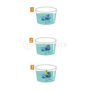 Kesoto カラフル おもちゃ 蜘蛛の卵 水中ハッチ 孵化成長 蜘蛛モデル