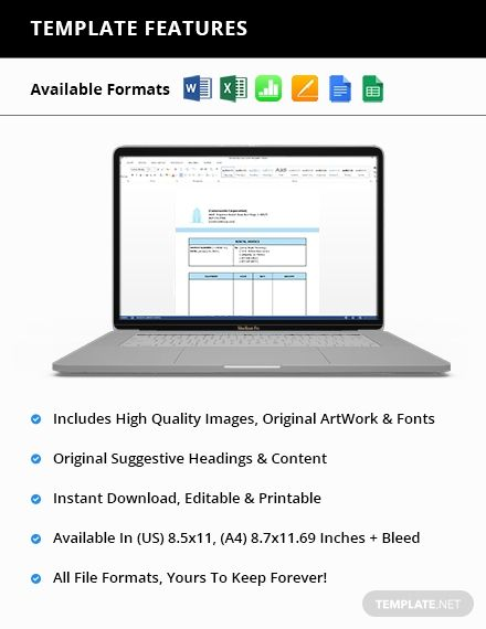 Equipment Rental Invoice Template Free Pdf Word Excel Apple Pages Google Docs Google Sheets Apple Numbers Invoice Template Word Doc Google Sheets