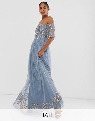 27++ Blue bardot maxi dress inspirations
