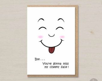 Funny Goodbye Card Farewell Card Printable Coworker Card