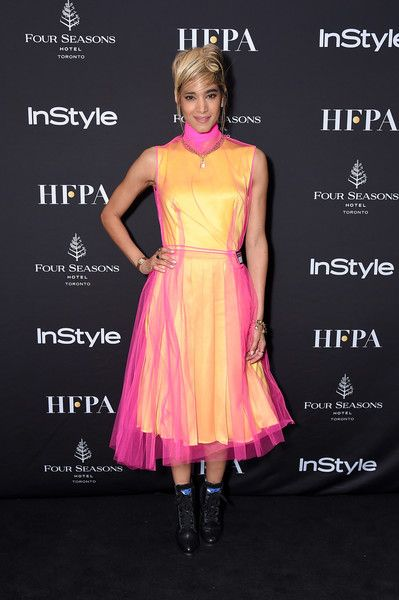 Sofia Boutella attends The Hollywood Foreign Press Association and InStyle Party during the 2018 Toronto International Film Festival.