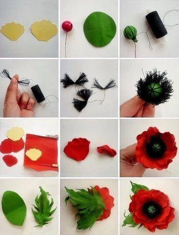Pin By Stine On Diy Felt Flowers Diy Fabric Flowers Diy Flower Crafts