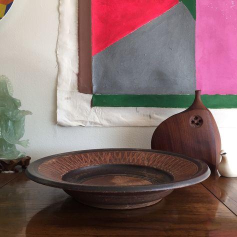 Carol McFarlan Large Stoneware Studio Pottery Vase
