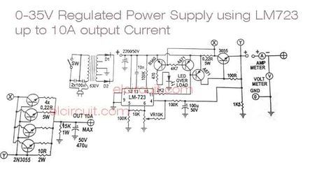 Lm723 Adjustable Power Supply Circuit Engenharia Eletronica Eletronica Fontes
