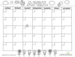 Image Result For Preschool April Calendar Template Create A