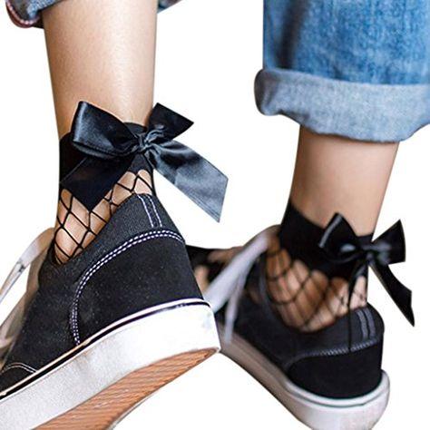 Frauen weiß Fischnetz Knöchel hohe Socken Lady Mesh Lace Fish net Short Socde