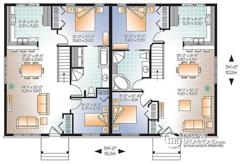 13 best Plan 4 1 2 (1 étage) images on Pinterest Little houses