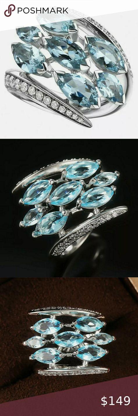 Check out this listing I just found on Poshmark: Beautiful Aquamarine Marquise .925 Silver Ring. #shopmycloset #poshmark #shopping #style #pinitforlater #Jewelry