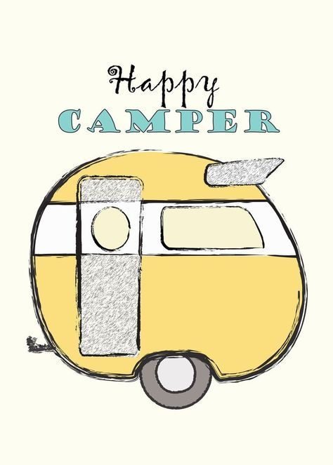 Happy Camper Printable Free From Mrs Padilly S Travels Happy