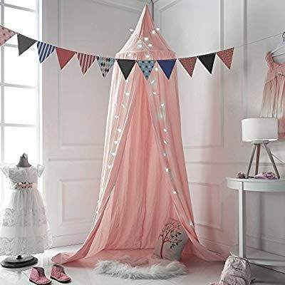 Children Bed Canopy Baby Bedding Round Dome Kids Princess Play Tent Hanging Cotton Mosquito Net N Bed Canopy