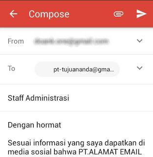 Cara Mengirim Surat Lamaran Kerja Via Email Di Hp Android Media Sosial