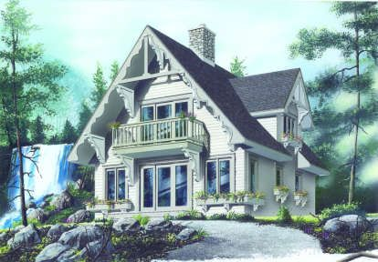 House Plan 034 00136 Vacation Plan 1 510 Square Feet 3 Bedrooms 2 Bathrooms Vacation House Plans Cottage House Plans Cottage Style House Plans