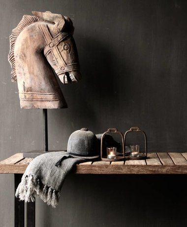Prachtig Groot Houten Paarden Hoofd Op Standaard Houten Paard Houten Salontafels Interieur